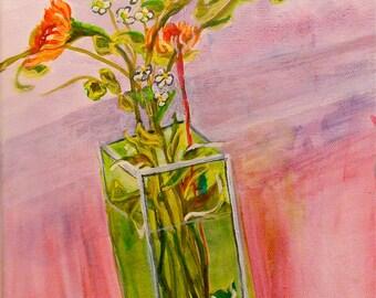Flower Vase Still Life Original acrylic Painting