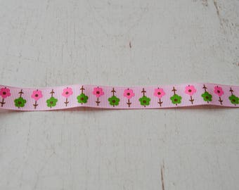 16 mm wide ribbon sold by the yard spring theme No. 11