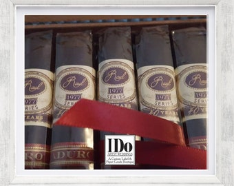 Custom Cigar Bands - Married Cigars - Chocolate Cigar Rings - Cigar Stickers  - Napkins Rings - Birthday Cigar Rings