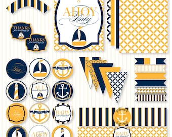 Nautical Baby Shower PRINTABLE Party Full by Love the Day