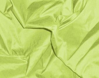 dupioni silk fabric - lime green fat quarter sld124