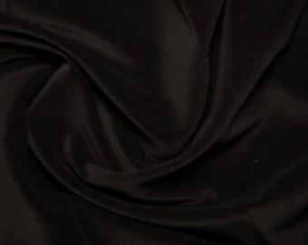 """Black Premium 100% Cotton Velvet Fabric Material - 112cm (44"""") wide"""