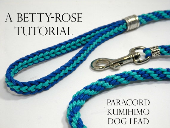 Tutorial for kumihimo paracord dog leash lead flat and round for Paracord leash instructions