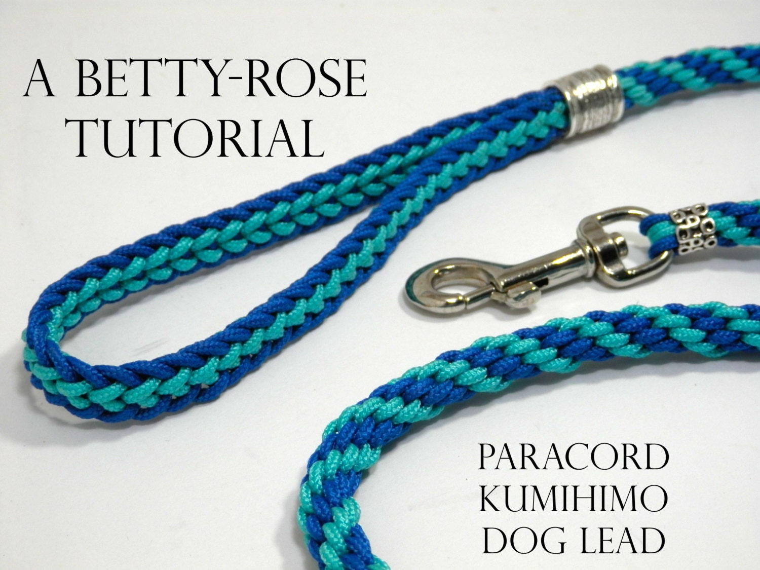 Tutorial for kumihimo paracord dog leash lead flat and for Paracord leash instructions