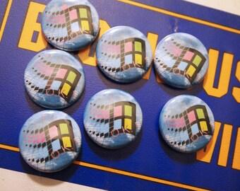 VAPORWAVE // Windows 95 Pin Net Art Internet Button Cyberpunk Aesthetic Badge