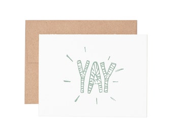 Yay Letterpressed Greeting Card - Congratulations Card, Congrats Card, Encouragement Card, Graduation Card | Greeting Cards