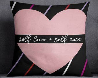 Self Love throw pillow cover