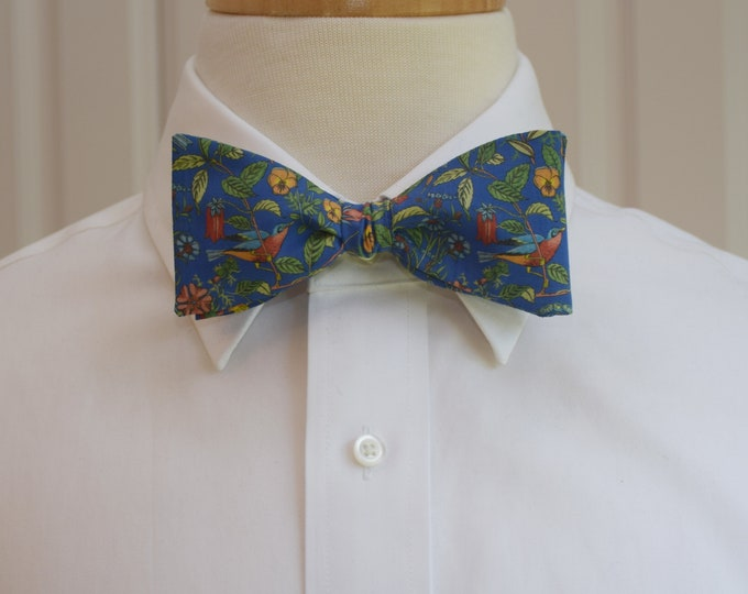 Men's Bow Tie, Liberty of London, cobalt blue/green/multi floral Catesby bow tie, groomsmen/groom bow tie, wedding bow tie, tuxedo accessory