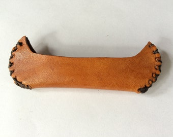 Miniature Canoe - Native American Style - Leather