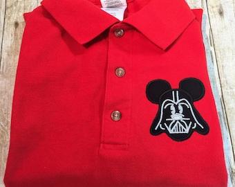 Darth Vader Mouse Ears Polo Shirt