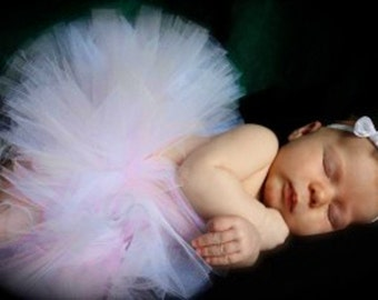 Heavenly - Custom Sewn Infant Tutu - sizes Newborn to 12 months - Perfect for Portraits, 1st Birthdays and Baby Shower Gifts