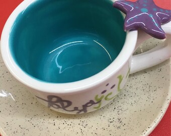 Under the Sea Child size Personalized tea cup and saucer party favors