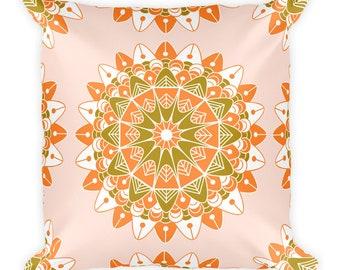 Mandala VI Pattern Print Throw Pillow