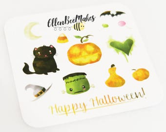 Halloween Watercolour Deco Stickers