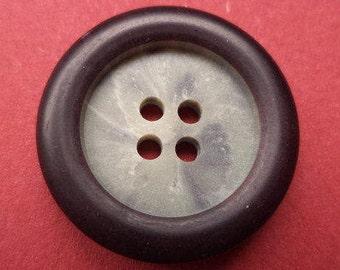 10 buttons 23mm dark brown (2888) Brown