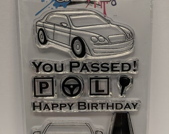 Cars - A6 Clear Polymer Stamp Set by Imagine Design Create