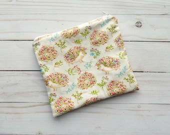 zipper snack bag - washable snack bag - snack bag with zipper - lunch tote for women - reusable sandwich bag for kids - zipper tote