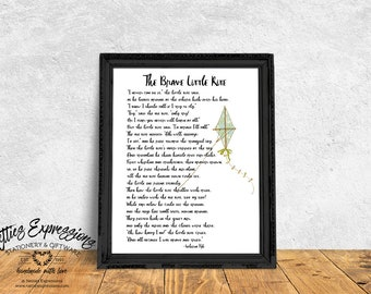 The brave little kite, 8×10 Art Print, Inspirational Print, Retro Print, Kite Art Print, Sweet Print, Cheery Print, Art Print, Prints