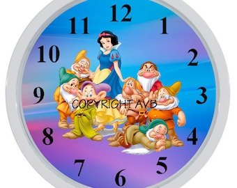 Snow White and Seven Dwarfs Wall Clock