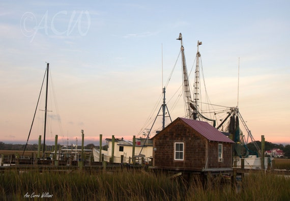 Pier on Shem Creek, Mt Pleasant, in South Carolina (PR) (canvas)