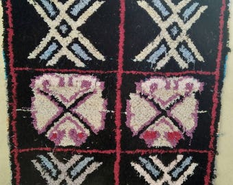 Runner Teppish Berber rug Berber Vintage Moroccan Boucherouite rag rug hallway rug azilal BOUCHEROUITE