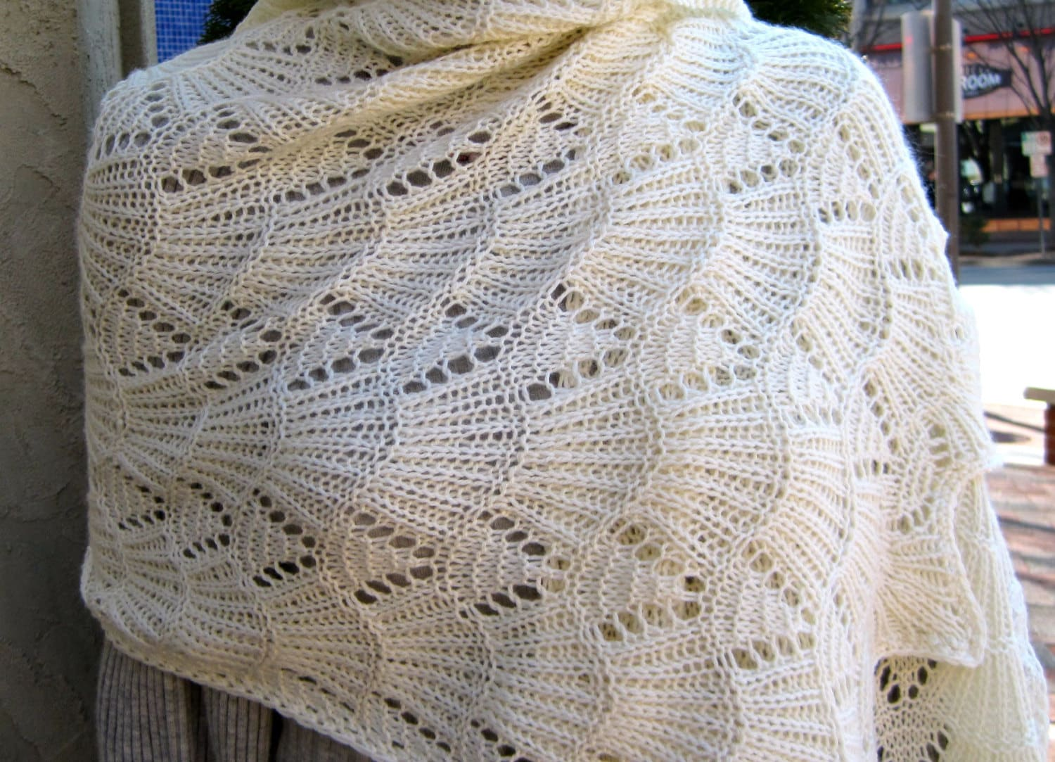 Knit shawl pattern bavarian lace wrap knitting pattern zoom bankloansurffo Image collections