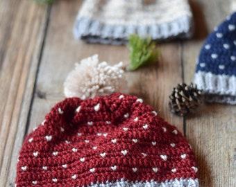 CROCHET PATTERN: Snowfall Slouchy Hat pdf DOWNLOAD