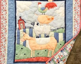 Farmyard Baby Quilt