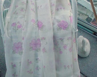 Shower Curtain Roses Romantic Cottage Chic