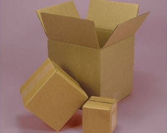 shipping cardboard boxes ( 5 boxes ) 8 x 4 x 4