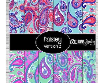 paisley print version 2 Pattern Vinyl HEAT TRANSFER vinyl or ADHESIVE vinyl
