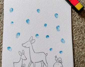Deer Baby Shower Fingerprint Guest Book