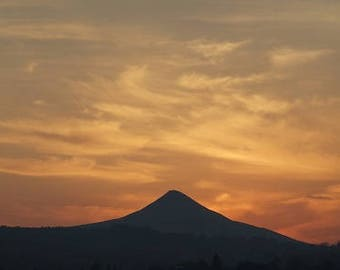 Sunset over the Sugarloaf Mountain, Wicklow