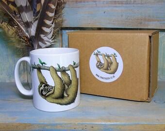 Sloths Illustration Mug