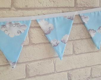 Fluffy Cloud Bunting~Cloud Nursery Decor~Bunting for Baby's Nursery~Fluffy Clouds~Nursery Bedding~Cloud Theme Nursery~Pastel Nursery Decor