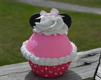 Pink mouse Cupcake (fake)