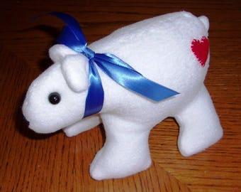 White Fleece Bear