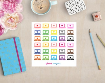 Laptop Planner Stickers, Erin Condren, Happy Planner Stickers