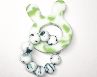 UK Cherish Lewis  Exclusive Silicone Teether Baby bunny TEETHING Ring Shower Gift