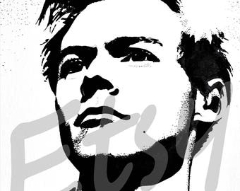 Harry Styles art print, drawing