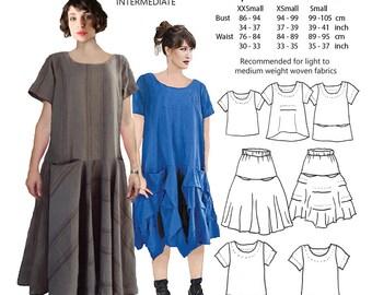 JUDITH SUITE, womens PDF naaien patroon, 3 kleine maten