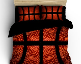 Basketball bedding -  custom background basketball image-Can Personalize - Toddler, Twin, Full/Queen or King Size