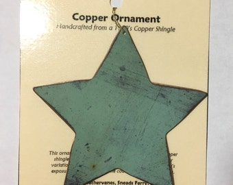 Star Ornament - Handcrafted out of Recycled Copper
