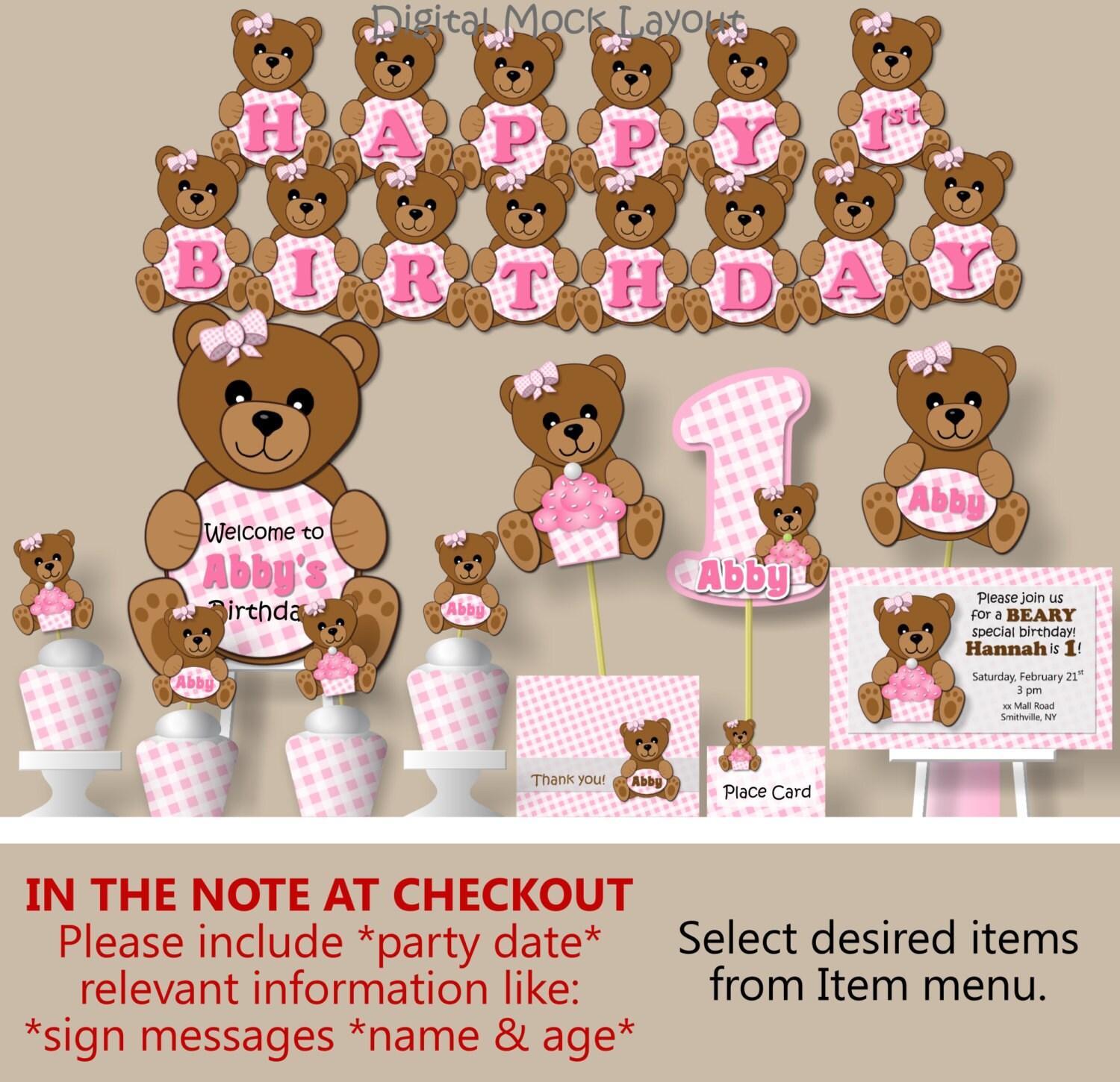 Teddy bear picnic birthday party or baby shower decorations zoom filmwisefo