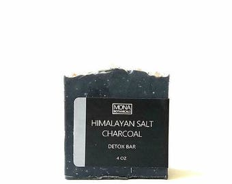 Charcoal Himalayan Salt Detox Facial Bar 4oz