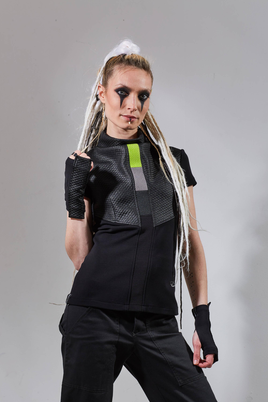 futuristic clothing for women cyberpunk tshirt sci fi