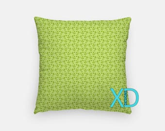 Vines Pillow, Garden Leaf Pillow Cover, Leaves Pillow Case, Green Pillow, Artistic Design, Home Decor, Decorative Pillow Case, Sham
