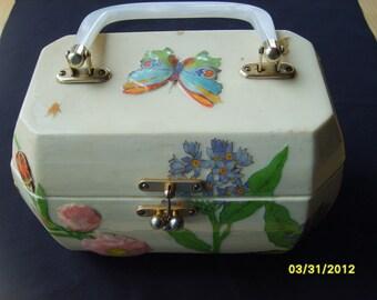 Box Purse, Vintage Purse, Wood Box Decoupage Purse, Womens Fashion Accessories