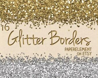 Digital Clip Art: Glitter Clip Art, Glitter Border Clip Art, Glitter Clipart Border, Clipart Digital Border, Commercial Use Glitter Overlay