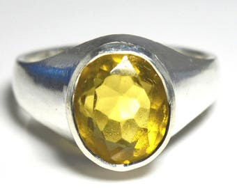 Citrine Bold Ring,Yellow Citrine Ring,Gemstone Ring,925 Sterling Silver Bold Ring,Rings,Jewelry Rings,Women Ring,Men Rings,Bold Citrine Ring